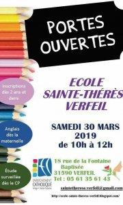 Journée Portes Ouvertes de l'école Sainte Thérèse de Verfeil